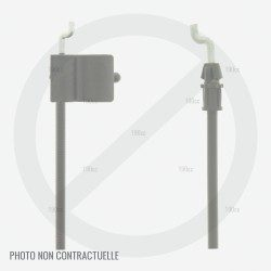 Cable arret moteur tondeuse MTD 53 SPK, SPT 53 DC et Silverline Silver 530 K