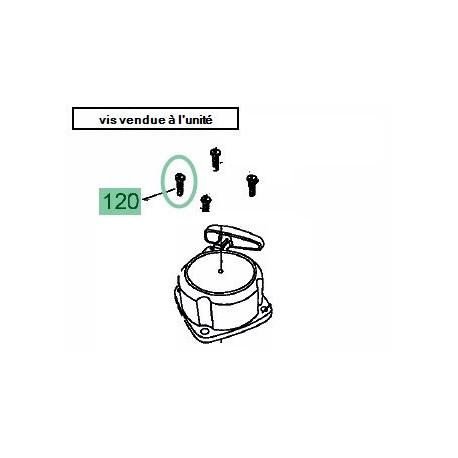 Vis de lanceur pour taille haie MTD GHT 55/28