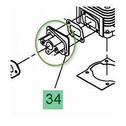 Bride de carburateur pour débroussailleuse Mastercut 2043 B et 2053 B