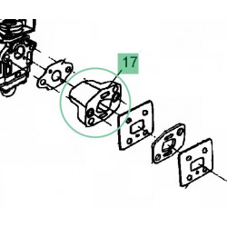 Coude admission carburateur pour débroussailleuse MTD Smart BC 26