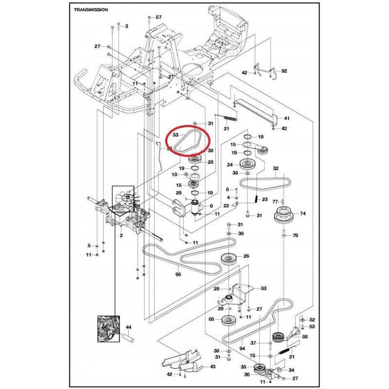 courroie autoport u00e9e mc culloch m125-85fh et m125-97fh