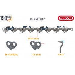 Chaine 45 cm tronçonneuse Stihl MS 310, MS 311, MS 340, MS 341, MS 361, MS 362 (66 maillons - 3/8 - 1.6 mm)