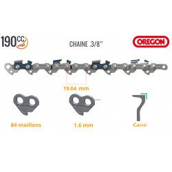 Chaine tronçonneuse Stihl MS 311, MS 340, MS 341, MS 360, MS 361, MS 362 (3/8 - 1,6 mm)