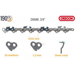 Chaine tronçonneuse Mc Culloch Electramac 235, Mac Cat 338, Powermac Plus 1800, Promac 2200-16