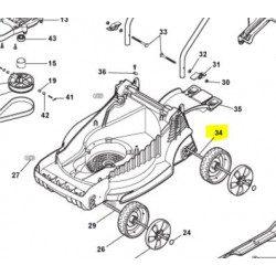 Axe des roues arrières GGP 118810101/0