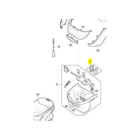 Clé de sécurité 118810832/0 pour tondeuse à batterie GGP