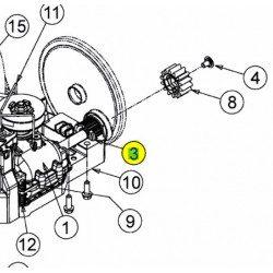 Bague de roue sur boitier de traction MTD Cub Cadet