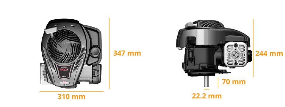 Dimensions moteur Briggs 500E Series