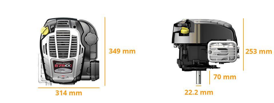 Encombrement 675EXi Series 22.2x70mm