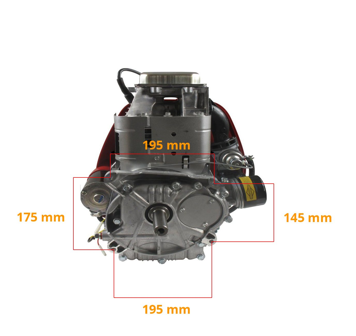 Fixation moteur Briggs 17hp