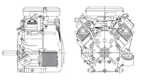Plan coupe Vanguard horizontal