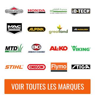 Nos marques: Briggs & Stratton, Honda, GGP, MTD, Mc Culloch, Stihl, Bestgreen, Mac Allister, Perfomance Power, Sterwins, Alpina, Greatland, …